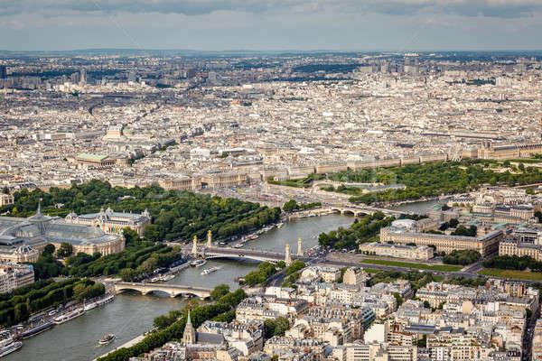 Foto stock: Rio · Torre · Eiffel · Paris · França · árvore