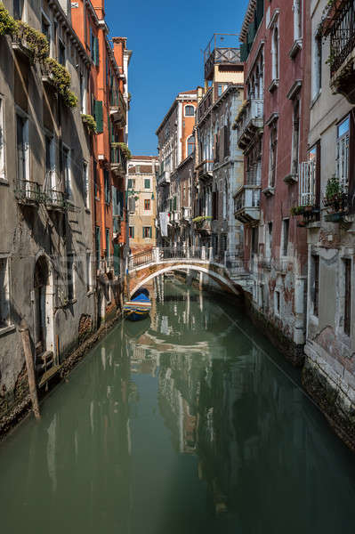 Typical Canal, Bridge and Historical Buildings in Venice, Italy Stock photo © anshar