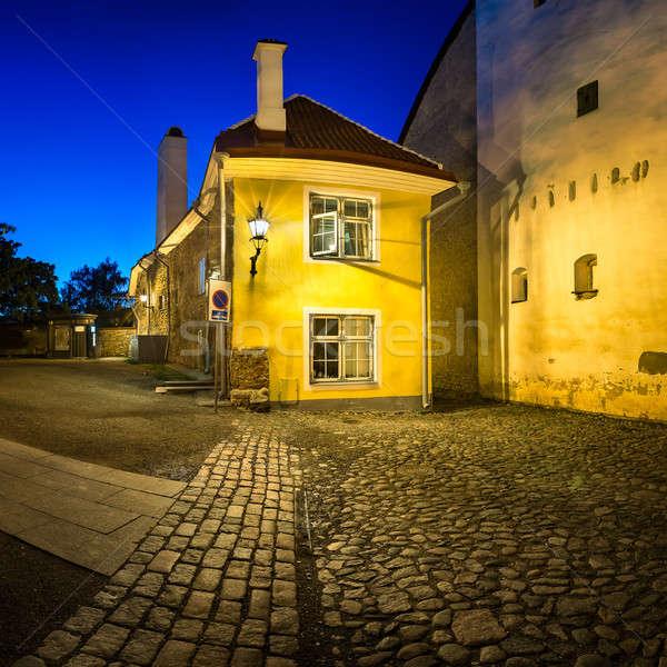 Piccolo tradizionale casa città vecchia Tallinn Estonia Foto d'archivio © anshar