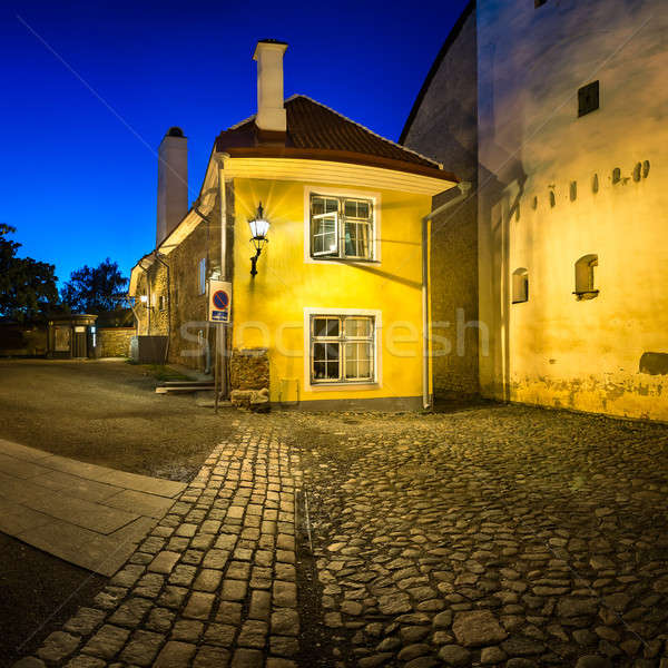 Klein traditioneel huis oude binnenstad Tallinn Estland Stockfoto © anshar
