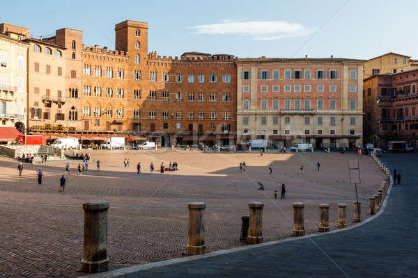Piazza del Campo, Central Square of Siena, Tuscany, Italy Stock photo © anshar