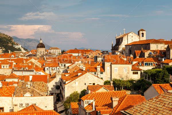 表示 ドゥブロブニク 屋根 市 壁 クロアチア ストックフォト © anshar