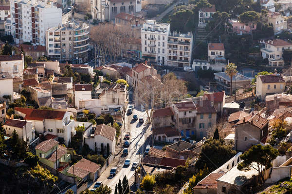 Aerial View of Marseille, France Stock photo © anshar