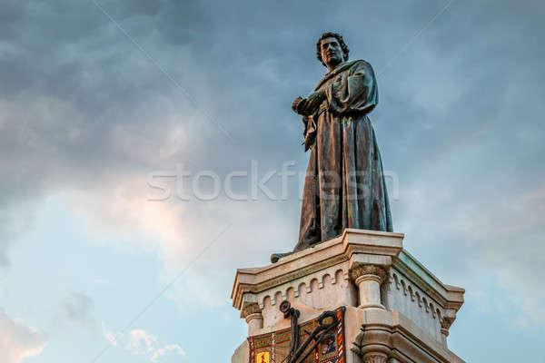 Poet Andrija Kacic-Miosic Monument in Makarska, Dalmatia, Croati Stock photo © anshar