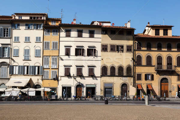 Colorful Houses Facades on Piazza dei Pitti in Florence, Italy Stock photo © anshar