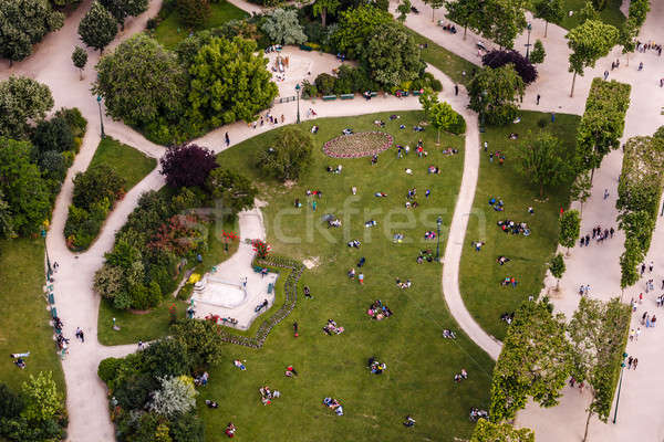 Aerial View on Champs de Mars from the Eiffel Tower, Paris, Fran Stock photo © anshar