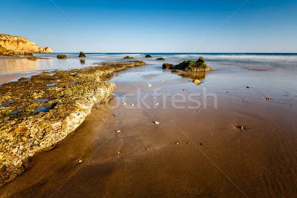 Porto de Mos Beach in Lagos, Algarve, Portugal Stock photo © anshar