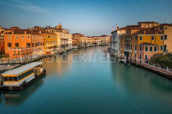 View on Grand Canal and Vaparetto Station from Accademia Bridge  Stock photo © anshar