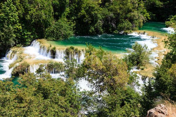 Parku kaskada wodospady rzeki niebo lasu Zdjęcia stock © anshar