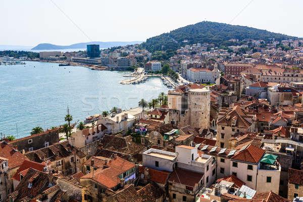 丘 古い 市 クロアチア 空 ストックフォト © anshar
