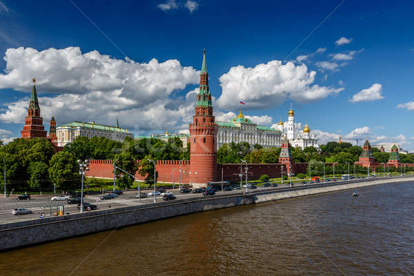 Moscow Kremlin and Moscow River Embankment, Russia Stock photo © anshar