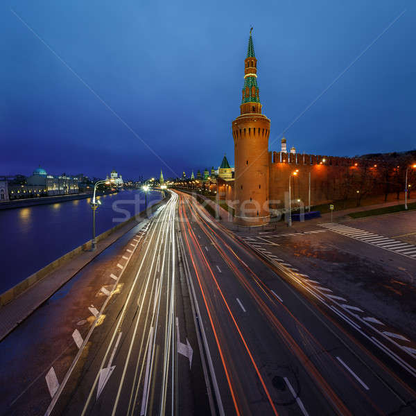 Beklemishevskaya Tower and Moscow Kremlin Embankment at Dusk, Ru Stock photo © anshar
