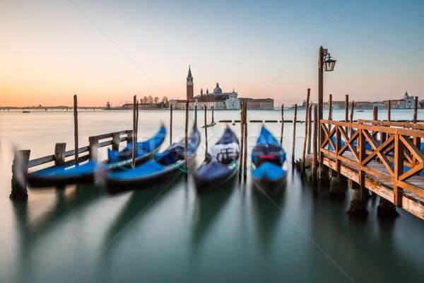 Grand Canal Embankment and San Giorgio Maggiore Church at Dawn,  Stock photo © anshar