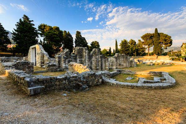 Church Ruins in the Ancient Town of Salona near Split, Croatia Stock photo © anshar