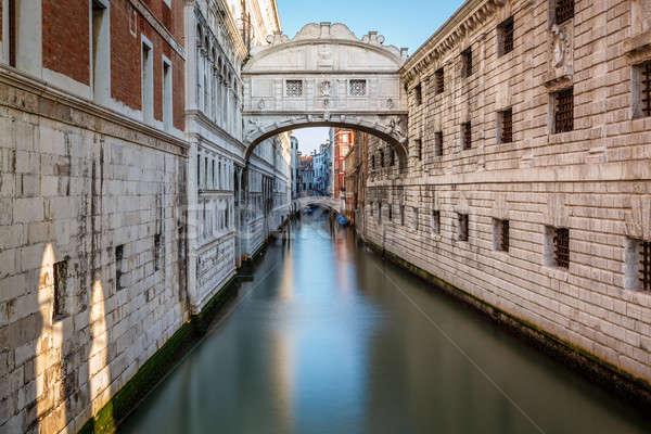 ストックフォト: 橋 · 宮殿 · ヴェネツィア · イタリア · 水 · 市