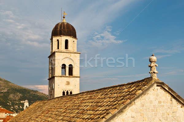 修道院 ドゥブロブニク クロアチア 雲 建物 市 ストックフォト © anshar