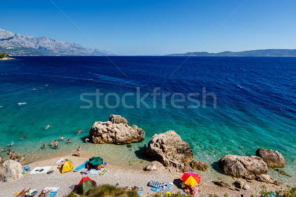 Beautiful Beach and Adriatic Sea with Transparent Blue Water nea Stock photo © anshar