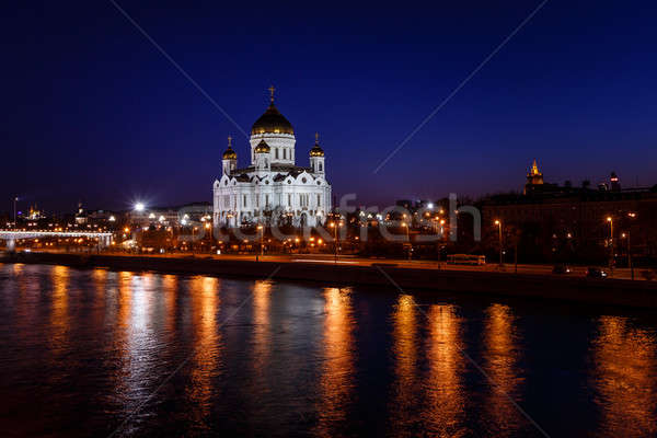 Cathedral of Christ the Saviour in the Evening, Russia, Moscow Stock photo © anshar