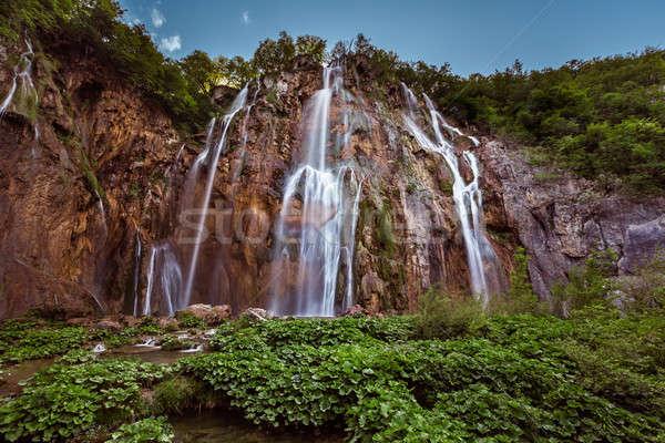 ビッグ 滝 公園 クロアチア ツリー 風景 ストックフォト © anshar
