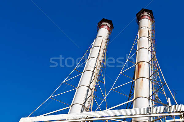 White Chimneys and Blue Sky Stock photo © anshar