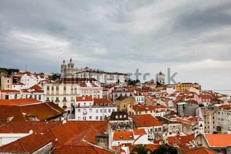 Panoráma negyed Lisszabon Portugália épület templom Stock fotó © anshar