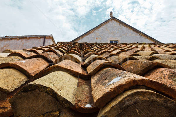 Tiled Roof in Dubrovnik, Croatia Stock photo © anshar