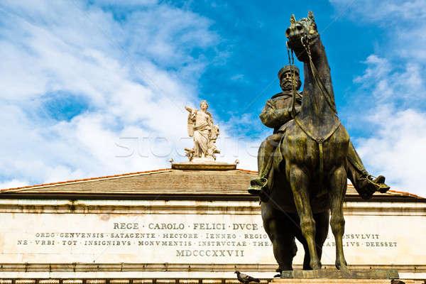 статуя муза арфа Top опера театра Сток-фото © anshar