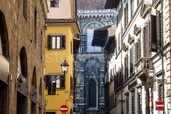 Histroical Houses Facades in Florence, Italy Stock photo © anshar