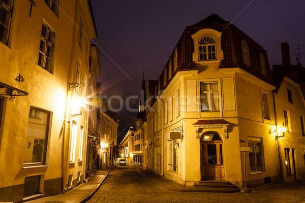 古い 通り タリン 1泊 エストニア 道路 ストックフォト © anshar