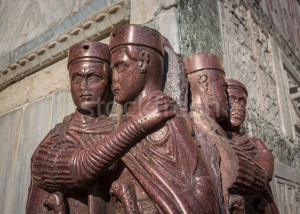 The Tetrarchs - a Porphyry Sculpture of four Roman Emperors, Sac Stock photo © anshar