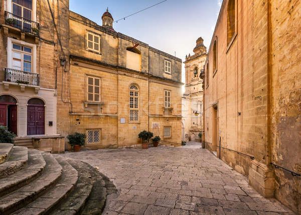 Iglesia Malta cielo ciudad pared Foto stock © anshar
