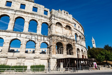 Ancient Roman Amphitheater in Pula, Istria, Croatia Stock photo © anshar