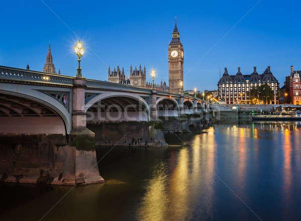 Big Ben kraliçe kule köprü sabah Stok fotoğraf © anshar