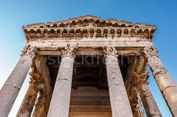 древних римской храма Хорватия здании искусства Сток-фото © anshar