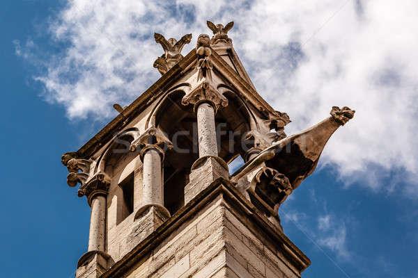 Paris katedral ayrıntılar Fransa Bina Stok fotoğraf © anshar