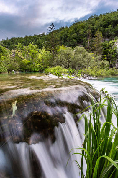 Waterfall in Plitvice Lakes National Park, Croatia Stock photo © anshar
