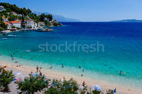 Beautiful Adriatic Beach and Lagoon with Turquoise Water near Sp Stock photo © anshar