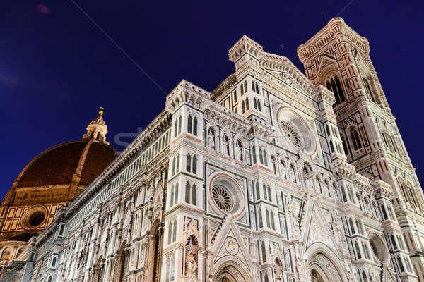 Florence katedrális bazilika mikulás reggel Toszkána Stock fotó © anshar