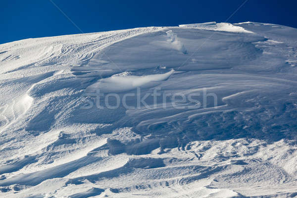 Snow on Peak Vallon at Ski Resort of Corvara, Alta Badia, Dolomi Stock photo © anshar