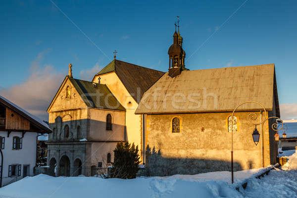 средневековых Церкви центр французский Альпы Франция Сток-фото © anshar