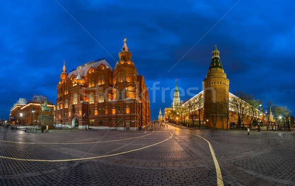Kremlin and Historical Museum in the Evening, Moscow, Russia Stock photo © anshar