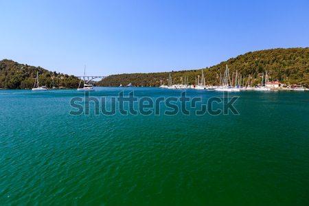 Parque marina cidade Croácia céu água Foto stock © anshar