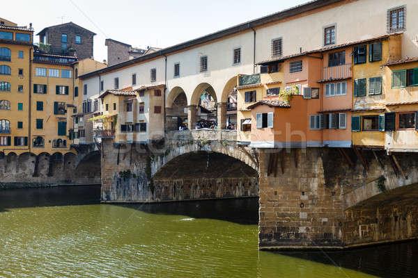 Ponte Vecchio Bridge Across Arno River in Florence at Morning, I Stock photo © anshar