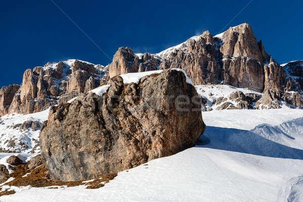 Ski resort alpen Italië sport Stockfoto © anshar