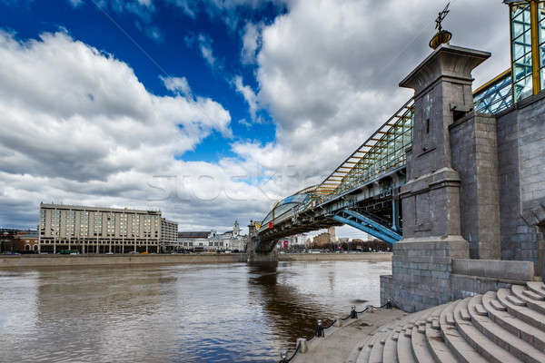 橋 鉄道駅 モスクワ ロシア 空 建物 ストックフォト © anshar