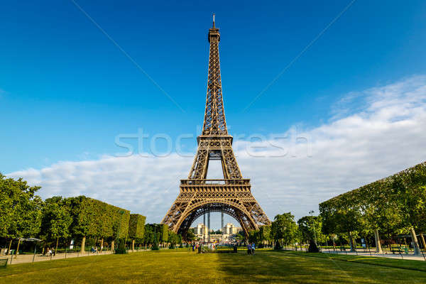 Eiffel Tower and Champ  de Mars in Paris, France Stock photo © anshar