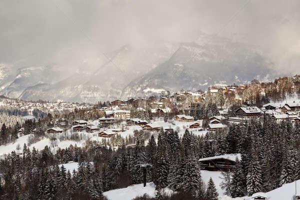 Сток-фото: лыжных · курорта · французский · Альпы · Франция