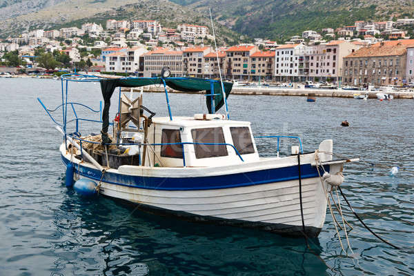 Fisherman Boat Docked at Harbor in Senj, Croatia Stock photo © anshar