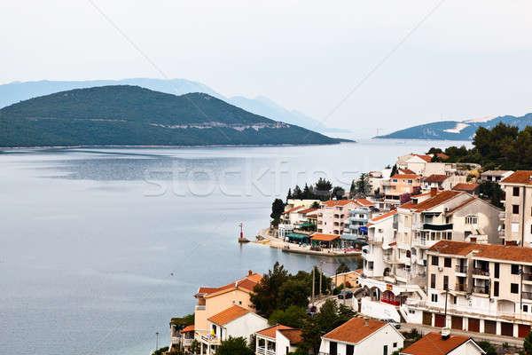 Panorámica vista Bosnia Herzegovina playa verano océano Foto stock © anshar