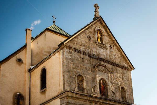 Medieval Church in the Center of Megeve, French Alps, France Stock photo © anshar